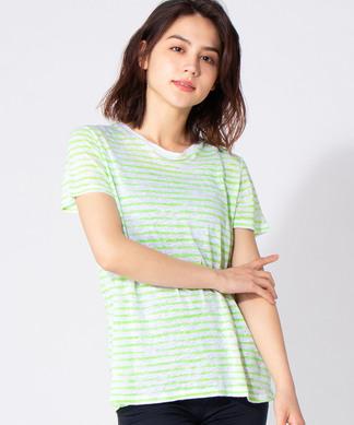 【MAJESTIC】リネンボーダーTシャツ