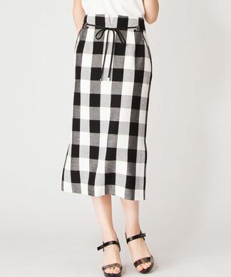 【Brahmin】ブロックチェックタイトスカート