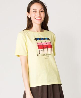 【SCOTCH & SODA】レトロ柄プリントTシャツ