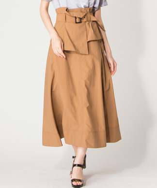【Special Price】【BEATRICE】ペプラムベルト付マキシスカート
