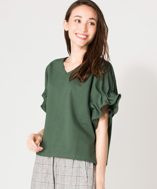 【Special Price】タックフリル袖TOPS