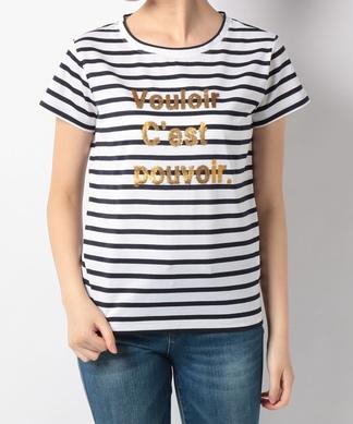 【Special Price】ラメロゴTシャツ