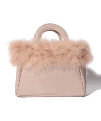 【CASSELINI】マラボー×フェイクレザーハンドバッグ