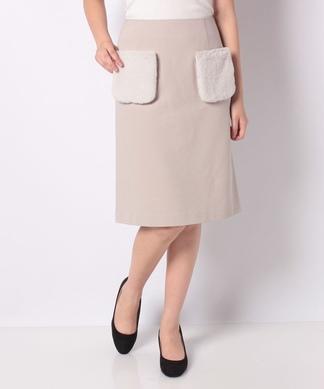 フェイクファーポケットスカート