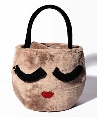 【A-Jolie】フェイスフェイクファーハンドバッグ
