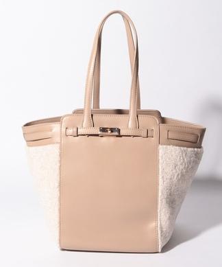 【Le Vernis】異素材切替えハンドバッグ