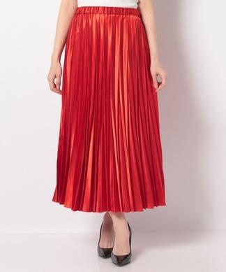 シャイニーサテンプリーツスカート