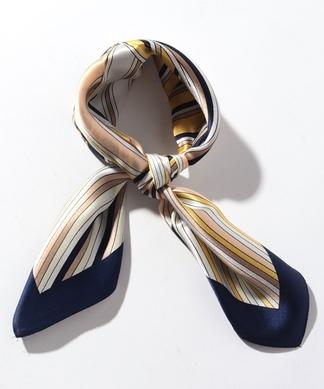 配色ストライプスカーフ
