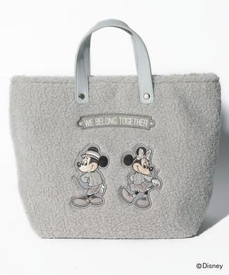 ミッキー&ミニーボアトートバッグ