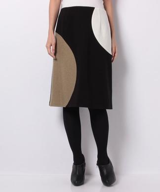 【Nouque】異素材バイカラースカート