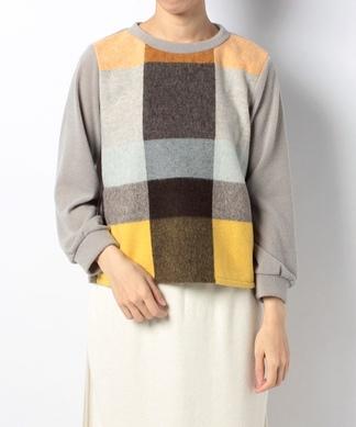 フロントチェックセーター