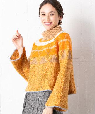 柄編みタートルセ-タ-