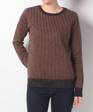 ストライプ柄セーター