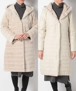リバーシブル中綿コート