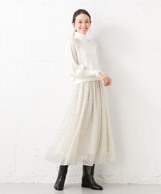 【BEATRICE】ドット柄スカート