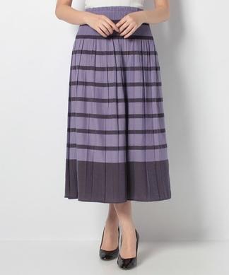 シャーリングロングスカート