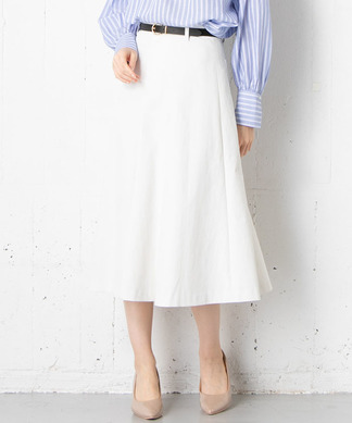 【DONEE YU】ベルト付きフレアスカート