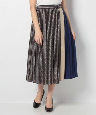 配色切替えプリーツスカート