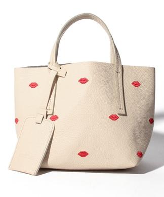 【NUR】リップ刺繍ハンドバッグ
