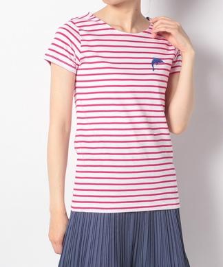 【ULTRA TEE】いるか刺繍ボーダーTシャツ