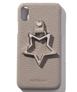 【HASHIBAMI】星型ホールドリング付レザーiPhoneケース