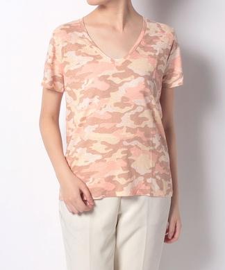 カモフラージュ柄半袖Tシャツ