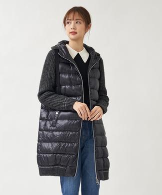 【HERNO】ニット切替えダウンコート