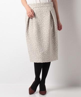 レオパードタックタイトスカート