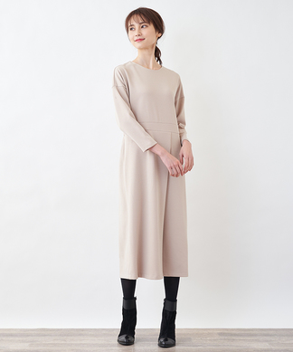 【Special Price】【BEARTICE】アシンメトリータックワンピース