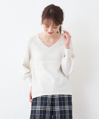 【Special Price】【BEATRICE】Vネックカシミヤセーター