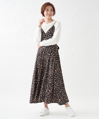 レオパードジャンパースカート