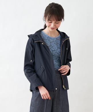 フード付きジップジャケット