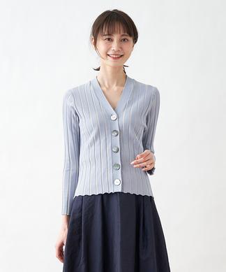 【TORRAZZO DONNA】Vネックニットカ-ディガン