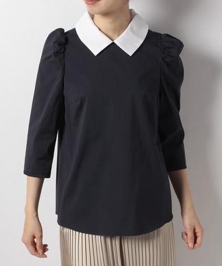 【Nouque】7分袖襟付きブラウス