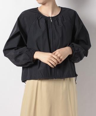 バルーンスリーブジップアップジャケット