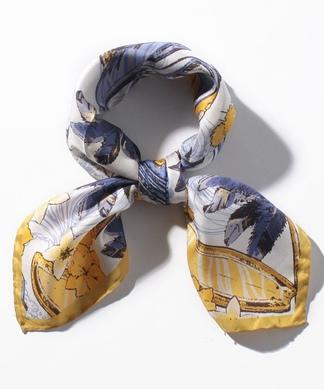 【LELLE】プリントシルクスカーフ