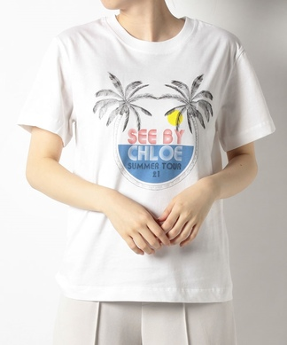 【SEE BY CHLOE】プリントTシャツ