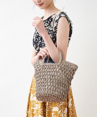 【CACHELLIE】メッシュ編みかごバッグ