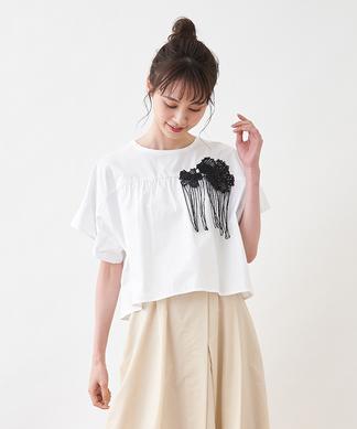 【TELA】フラワー刺繍ブラウス