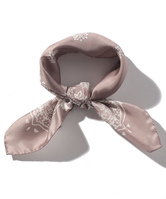 【LELLE】シルクスカーフ