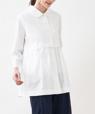 丸襟シャツジャケット