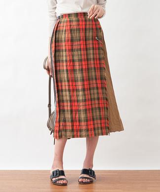 【Oneil of Dublin】プリーツラップスカート