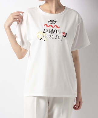 【LANVIN en Bleu】プリントTシャツ