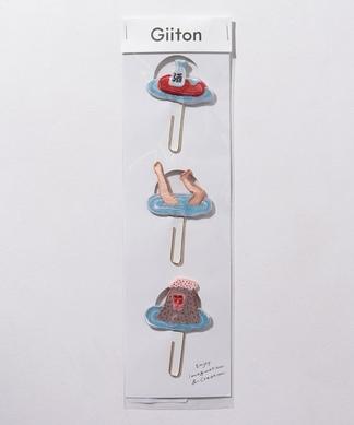 【Giiton】刺繍モチーフ付きクリップ