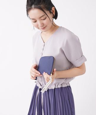 【Giiton】フラットラウンドジップポーチ