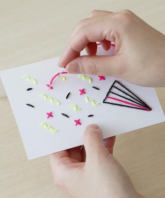 【Giiton】刺繍グリーティングカードキット