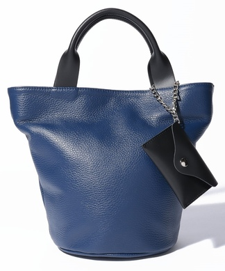 【M ROSE】ポーチ付きバケツ型ハンドバッグ