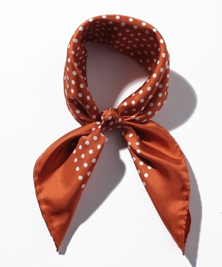 【LELLE】ドット柄スカーフ