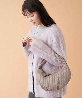 【CACHELLIE】クロワッサン型ハンドバッグ