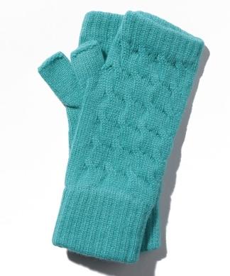 【William Brunton】ケーブル編み指なし手袋